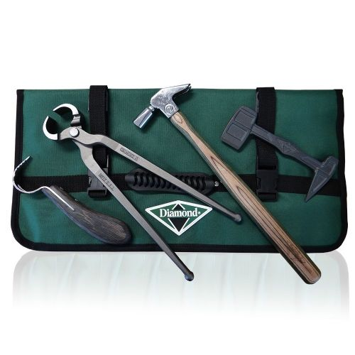 Diamond Shoe Removal Kit (Hammer, Tool Roll, Shoe Puller, Hoof Pick, Clinch Cutter)